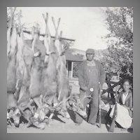 Hunting Photograph of Native American Quapaw Alex Beaver