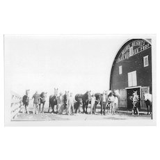 Photographs of Native American Quapaw Alex Beaver and his Horse Barn
