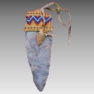 Native American Indian Beaded Arrowhead Charm