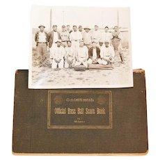 Native American Baseball Photograph and Team Scorebook