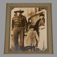 Native American Quapaw Alex Beaver with Matilda and child Photograph
