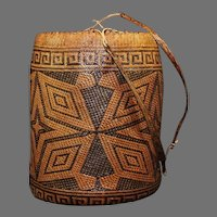 Indonesian Borneo Kalimantan Woven Pack Basket