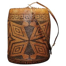 Indonesian Borneo Kalimantan Woven Pack Basket