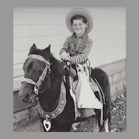 RPPC Little Cowboy on Pony