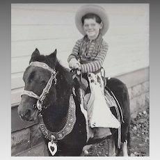 RPPC Little Cowboy on Pony