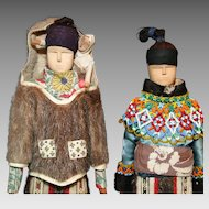 Native American Indian or Greenland Inuit Group of Dolls
