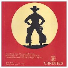 Molesworth's Old Lodge Western Furniture Christie's Catalog