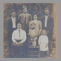 Antique Photograph on Mat of Family