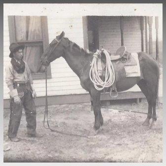 Native American Cowboy Real Photograph Postcard