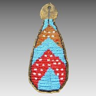 Native American Indian Sioux Beaded Watch Fob