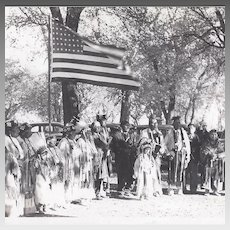Native American Indian Photograph of Honoring Ceremony