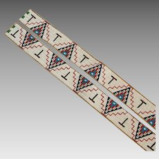 Native American Indian Plains Matched Pair of Legging Strips