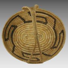 Native American Papago Handled Basket