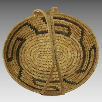 Native American Papago Handled Basket
