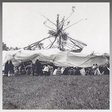 Native American Indian Ceremonial Real Photo Postcard