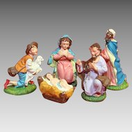 Italian Nativity Religious Figures And Baby Jesus