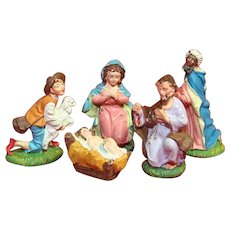 Italian Nativity Religious Figures And Baby Jesus