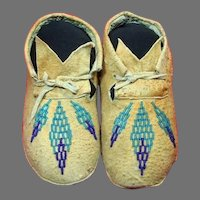 Vintage Native American Indian Children's Moccasins