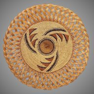 Vintage Native American Indian Karuk/Yurok Basket And Books