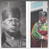 Native American Osage Real Post Card Photograph Chief Baconrind