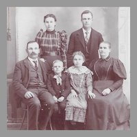 Oklahoma Territory Antique Portrait Cabinet Card  Family Photograph