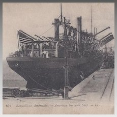 Post Card of An American Surveyor Ship