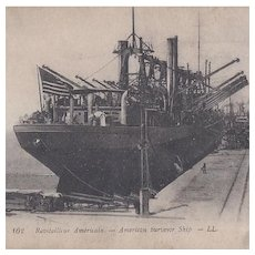 Post Card of An American Surveyor Ship