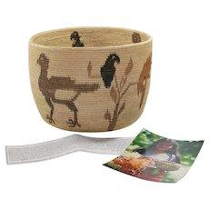 Panama Wounaan, Choco Indian Figured Hand Woven Basket