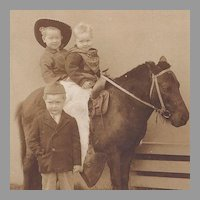 Photograph of 3 Boys with Pony