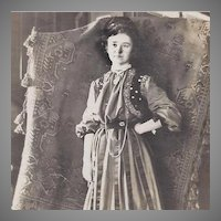 Photograph Turkey, Morocco, Arabic or Gypsy Woman with Woven Rug