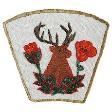 Native American Plateau Beaded Elk Gauntlet Cuff