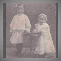 Adorable Portrait Card of Two Girls
