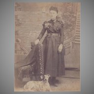Portrait Card of Lady and Her Whippet Dog