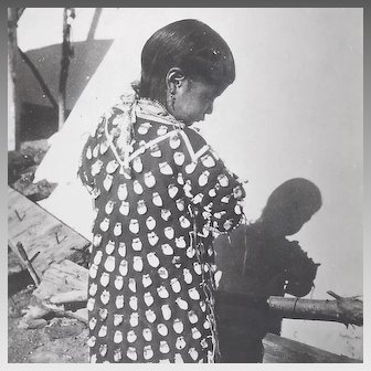 Real Photo Postcard Native American Girl