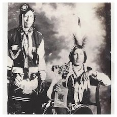 ON HOLD!!!  Native American Indian Real Photo Postcard Two Ponca Men