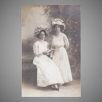 Real Photo Postcard of Fashionable Women in Great Hats