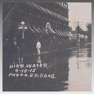 Real Photo Postcard Oklahoma Flood 1915 by Boag