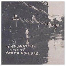Real Photo Postcard Oklahoma Flood 1915 by Boag