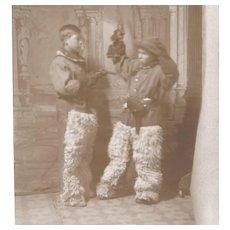 Real Photo Postcard Western Holdup