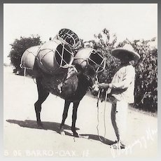 Real Photo Postcard of Mexican Pottery Vendors