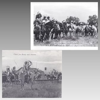 Real Photo Postcards of Native American Warriors