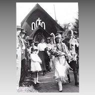 Photograph Of A Native American Wedding