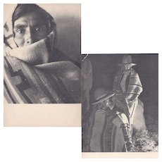 Two Native American Navajo Postcards