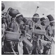 Real Photo Postcard Africa Zulu Wedding