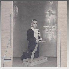 Religious Boy Easel Photograph