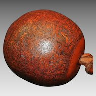 South American Peru Engraved Gourd Rattle