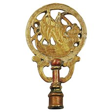 Sailboat Tall Ship Gilded Large Lamp Finial
