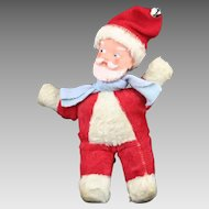 Vintage 50's Vinyl Faced Stuffed Santa Claus