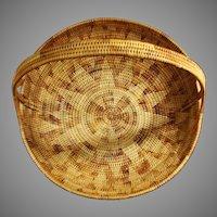 Solomon Islands Large Handled Basket