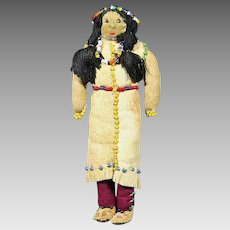 Native American Indian Small or Miniature Doll